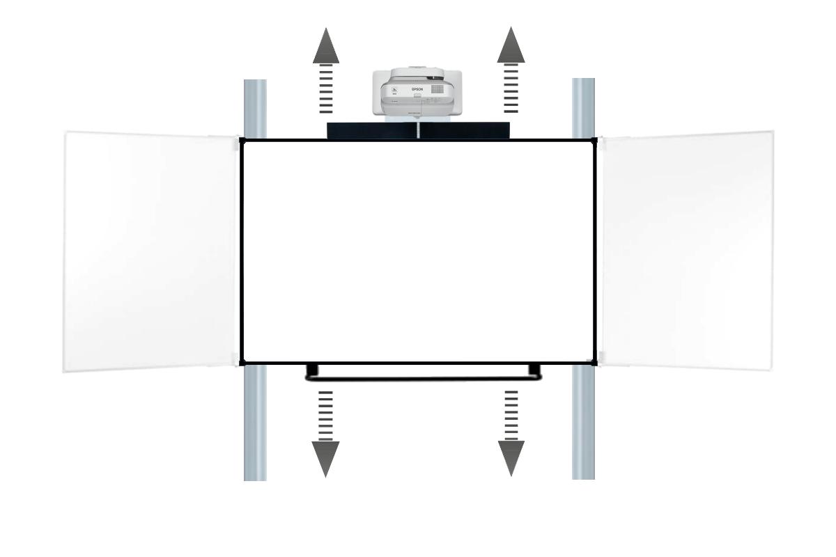 Promethean ActivBoard Touch mit Epson 685W Beamer