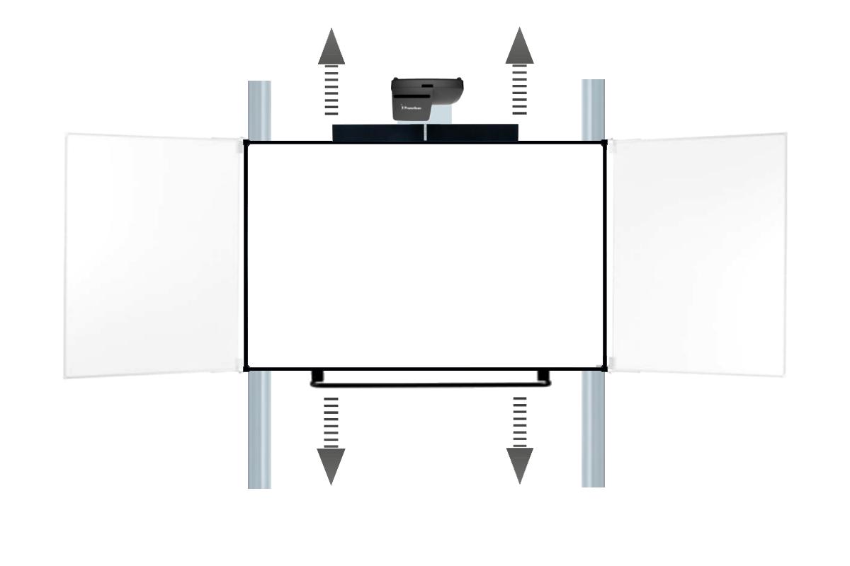 Promethean ActivBoard Touch auf Pylonensystem